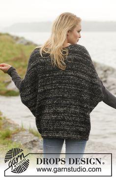 Drops Design, Sweater Knitting Patterns, Knit Patterns, Free Knitting, Knit Shrug, Knit Wrap, Pulls, Knitting Projects, Pattern Fashion