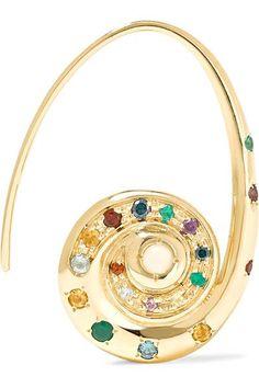 Venyx | Pharaonys 18-karat gold multi-stone earrings | NET-A-PORTER.COM