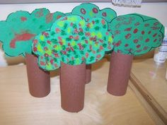 Toilet Roll Craft - Trees