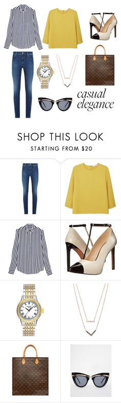 """""""Casual Elegance"""" by gloria-teresa-torres on Polyvore featuring Armani Jeans, MANGO, Tommy Hilfiger, Nine West, Tissot, Michael Kors, Louis Vuitton and ASOS"""
