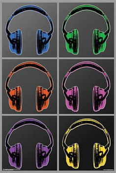 Headphones Pop Art Poster Posters - AllPosters.co.uk