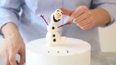 Tatlı Bir Dakika - Şeker hamuru ile Frozen filminden Olaf karakterini mo...