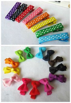 Bitty Grosgrain Bows and Clips Set of 4 $2.99 #pinkEpromise