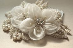 Bridal hair comb - Malta ( 1 qty read to ship) from MillieIcaro