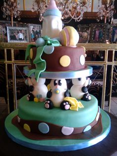 Panda Baby Shower Cake - Check out my site www.allthatfrost.com
