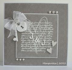 grey wedding card Gray Weddings, Wedding Crafts, Challenges, Jar, Wedding Card, Card Ideas, Grey, Grey Weddings, Gray