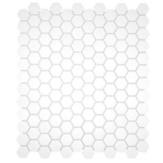 White Hexagon Mosaic- sq ft) maybe in upstairs bathroom White Mosaic Tiles, Ceramic Floor Tiles, Tile Floor, Tiles Direct, Tiles Online, Thing 1, Dark Walls, Color Tile, Cooking