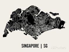 Singapur Kunstdrucke von Mr City Printing bei AllPosters.de