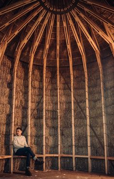 Studio Morison have completed Mother, a thatched hut designed to look like a hayrick, at the Wicken Fen Nature Reserve in Cambridgeshire. Architecture Artists, Landscape Architecture, Vernacular Architecture, Architecture Design, Journal Du Design, Nature Reserve, Studio, Countryside, England