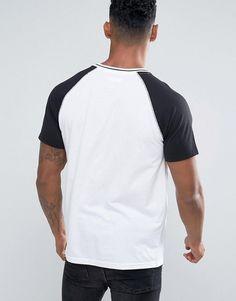 Another Influence Raglan Baseball T-Shirt - White