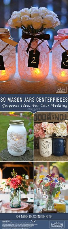 30 Gorgeous Mason Jars Wedding Centerpieces ❤️ Mason jars wedding centerpieces will become a great décor element for any wedding. Look at the list below and pick the best mason jars for your wedding. Cool Wedding Cakes, Diy Wedding, Wedding Dress, Wedding Ceremony, Wedding Centerpieces Mason Jars, Centerpiece Ideas, Outdoor Bridal Showers, Wedding Decorations On A Budget, Rustic Mason Jars