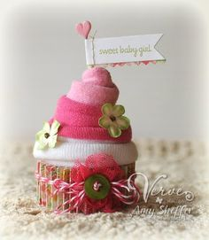 Baby Sock Cupcake
