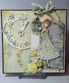 prima mixed media dolls | prima julie nutting cling mounted stamps mixed media doll six $ 6