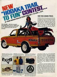 HODAKA + TOYOTA = Awful ad.. but I want those wheels on my Hilux.