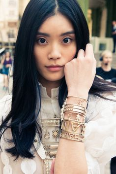 thecoveteur: Get C-Cuffed. Ming Xi, Coco Chanel Fashion, Donatella Versace, Arm Party, Chanel Spring, Spring Summer 2015, Girls Best Friend, Pretty Woman, Gucci