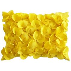 Petals Pillow - Lemon (would be pretty to add color to plain/boring outside furniture)