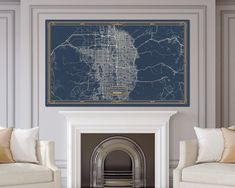 ALBUQUERQUE New Mexico map Art Deco Large Canvas print Map Horizontal Wall art canvas print ready to hang Gallery Art Deco Map Style Map Wall Art, Map Art, Canvas Wall Art, Large Canvas Prints, Stretched Canvas Prints, Texas Canvas, Ohio Map, Utah Map, Kansas Map