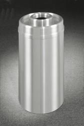 Satin Aluminum 16 Gallon D1533SA Donut Top Ash Trash Receptacle