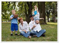 Lovely Upside Down Family