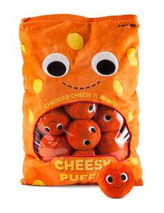 Kawaii Kidrobot Yummy World bag of cheese puffs plush set! Food Pillows, Cute Pillows, Candy Pillows, Diy Pillows, Kawaii Plush, Cute Plush, Food Plushies, Best White Elephant Gifts, Yummy World