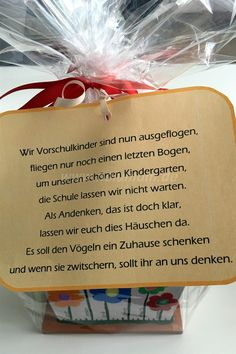 Geschenkideen zum Abschied - NeLuMum Last week was the last day of LittleNe's kindergarten time and Diy Gifts For Kids, Diy Gifts For Boyfriend, Gifts For Coworkers, Gifts For Dad, Happy Anniversary Wishes, Anniversary Gifts, Silver Anniversary, Goodbye Gifts, Goodbye Goodbye