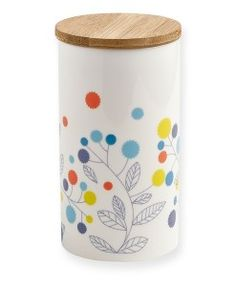 Pot en porcelaine Mini Labo motif feuilles sur Pastel Shop.fr