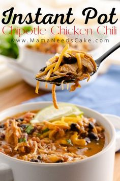 25 minutes · Serves 6 · This Instant Pot Chipotle Chicken Chili is a quick and easy dump and start meal and pressure cooked in less than 30 minutes! Using A Pressure Cooker, Instant Pot Pressure Cooker, Pressure Cooker Recipes, Slow Cooker, Soup Recipes, Chicken Recipes, Dinner Recipes, Turkey Recipes, Easy Recipes