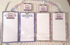4 Mary Engelbreit Magnetic.Shopping To Do Lists QUEENS LIST & BLOOMS New