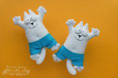Котяры в семейных трусах. #Handmade #Toy #Hobby #Cat #Кот #КотСаймона #Игрушка