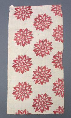 Textile, block printed cotton, 1815-1820, France