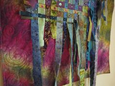 Sea Kelp  fiber art quilted wallhanging  by DebraHarryArtQuilts, $200.00