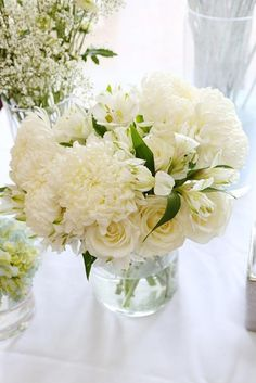White flower ideas for Christening