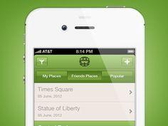 Dribbble - Who Where When iOS App by Umar Irshad