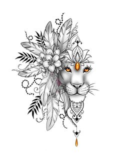 Lion Head Tattoos, Leo Tattoos, Dope Tattoos, Animal Tattoos, Body Art Tattoos, Girl Tattoos, Sleeve Tattoos, Lion Tattoo Design, Tattoo Design Drawings