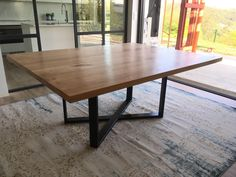 Square Dining Room Table, Square Tables, Modern Apartment Design, Sweet Home, New Homes, Interior Design, House Styles, Furniture, Home Decor