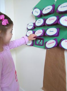 Peek-a-boo family tree - especially good for little ones that are far away from family.
