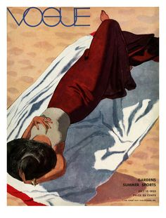 Vogue Cover July, 1933. Pierre Mourgue, Posters and Prints at eu.art.com