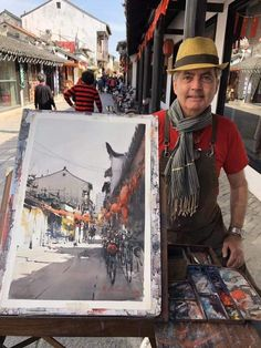 Joseph Zbukvic, in a historic part of Shanghai. Watercolor Projects, Watercolor Sketch, Watercolor Artists, Watercolor Landscape, Artist Painting, Landscape Art, Landscape Paintings, Watercolor Paintings, Watercolours