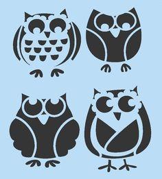 """☀☀ OWL STENCIL OWLS STENCILS BIRD BIRDS FLEXIBLE TEMPLATE NEW 7"""" X 10"""" ☀☀"""