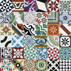 Our Encaustic Tiles Patchwork mix is very popular, Get the Moroccan Tiles, Cement Tiles Patchwork look. Patchwork Tiles, Patchwork Designs, Moroccan Tiles Uk, Tile Design, Pattern Design, Paint For Kitchen Walls, Spanish Tile, Encaustic Tile, Beautiful Bathrooms