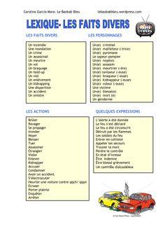Lexique  les faits divers by lebaobabbleu via slideshare
