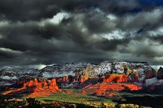 Red Rocks of Sedona With Early Morning Snow