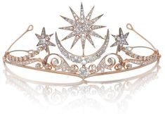 "thegryphonsnest: ""  Edwardian Star & Moon Diamond Tiara """