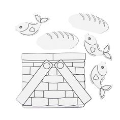 Loaves & Fishes lesson Color Your Own Loaves & Fishes Basket - Oriental Trading