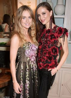 Cressida Bonas and Georgina Chapman