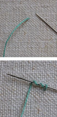 French knot. This knot-making technique for hand sewing is probably invaluable for most types of hand sewing and needlework.