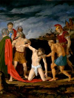 Station X: Jesus is stripped of his garments and offered gall and vinegar to drink