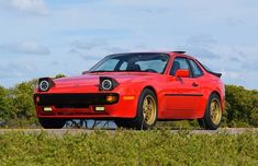 Porsche 944 with aftermarket wheels, LED head and fog lights. Porsche 968, Ls Swap, Aftermarket Wheels, Cartoon Fan, Space Ship, Car Wheels, Retro Cars, Mexico Travel, Cars And Motorcycles