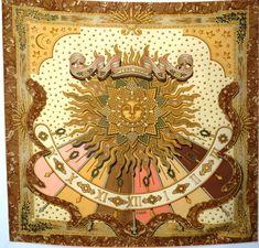 Carpe Diem, Roman Calendar, Ancient Romans, One Kings Lane, Vintage Accessories, Rainbow, Sun, Retro, Hermes Scarves