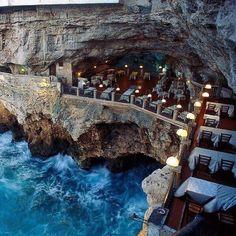Italian restaurant built into an ocean side grotto...